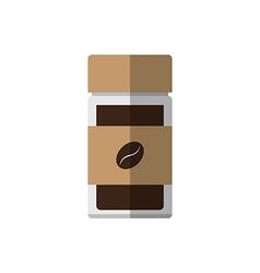Coffee glass bottle vector image