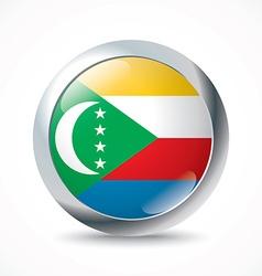 Comoros flag button vector image