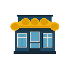 concept art of the facade of a coffee house vector image