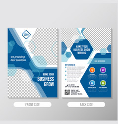 creative business brochure design template with vector image