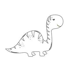 Cute apatosaurus character icon vector