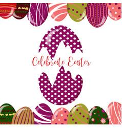 cute easter eggs vector image