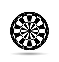 Darts player design vector