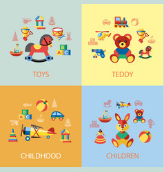 digital blue yellow children vector image
