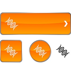 DNA button set vector