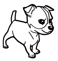 Dog coloring page vector