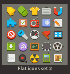 flat icon-set 2 vector image