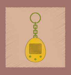 flat shading style icon kids retro electric toy vector image