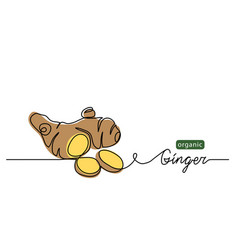 Ginger one line drawing art vector