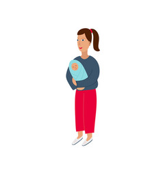 girl woman icon motherhood character vector image