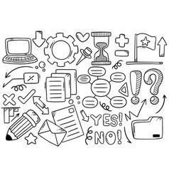Hand drawn doodle elementals businesses vector