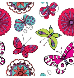 hand sketched background vector image vector image