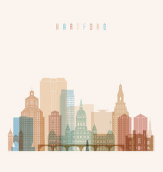 Hartford state connecticut skyline vector