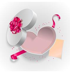 Heart box shape vector image