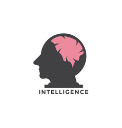 intelligence graphic design template vector image