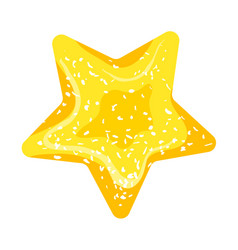 Jelly star icon cartoon style vector