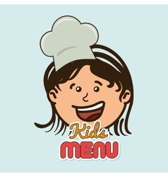 kids menu design vector image