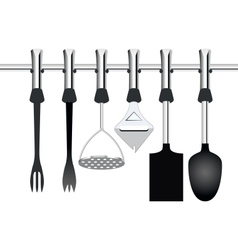 kitchen items related to cooking vector image