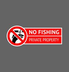 Label no ice fishing vector