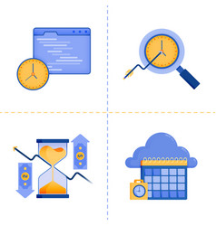 logo symbol designs for time investment 40 vector image