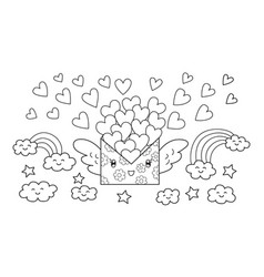 love mail vector image