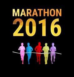 Marathon background vector
