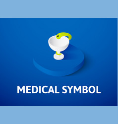 medical symbol isometric icon isolated on color vector image