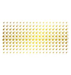 Medication granule golden halftone pattern vector