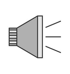 megaphone color icon vector image
