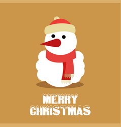merry christmas typography with santa clause and vector image