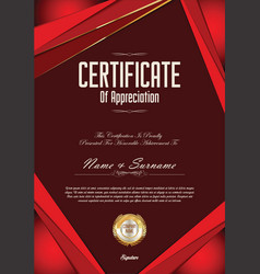 Modern certificate or diploma template vector