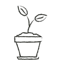 Monochrome blurred silhouette of plant in flower vector