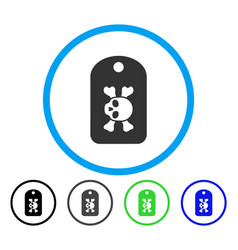 morgue mark rounded icon vector image