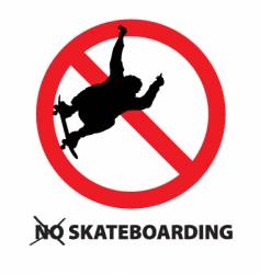 no skateboarding vector image vector image