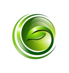 Organic farming logo design idea good food vector