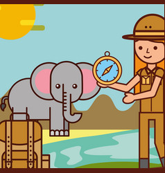 People safari travel vector