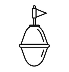 Port buoy icon outline style vector