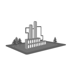 Processing factory factory and industry single vector