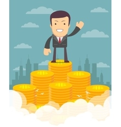 Proudly Businessman concept vector image