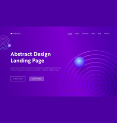 purple abstract geometric circle shape web page vector image