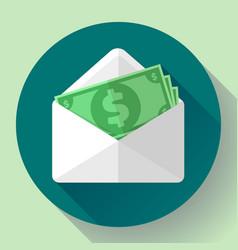 Salary in envelope increase money payroll vector