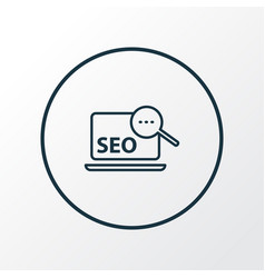 search optimization icon line symbol premium vector image