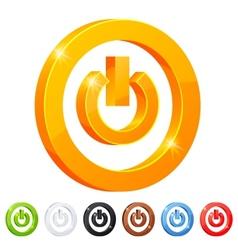 set 7 power button symbol vector image