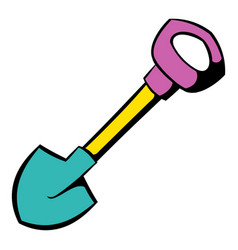 shovel icon icon cartoon vector image