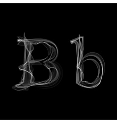Smoke font Letter B vector image