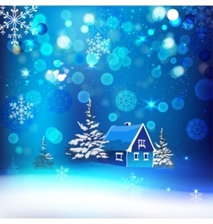 Snow village vector image