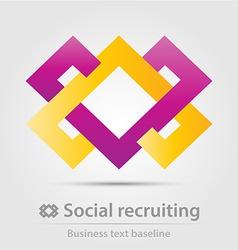 Social recruiting business icon vector