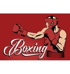 Summer kinds of sports Boxing vector