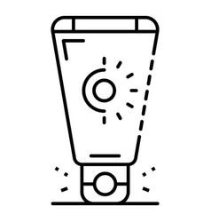 Sunscreen cream icon outline style vector
