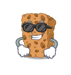 Super cool granola bar character cartoon vector